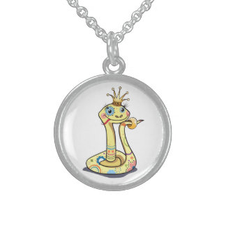Necklace with snake-princess  character.