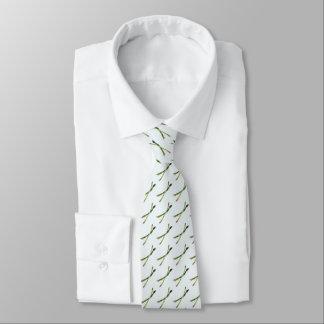Necktie with Asparagus