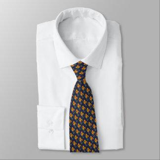 Necktie with flower watercolor