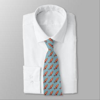 Necktie with Happy Fish