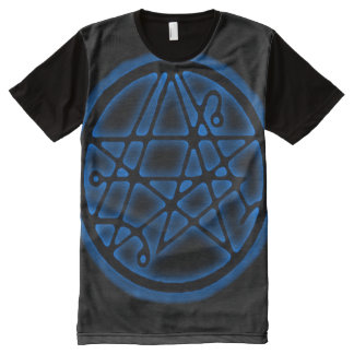Necronomicon Astral Magick Gate Sigil All-Over Print T-Shirt