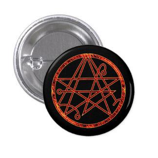 Necronomicon (burning) 3 cm round badge