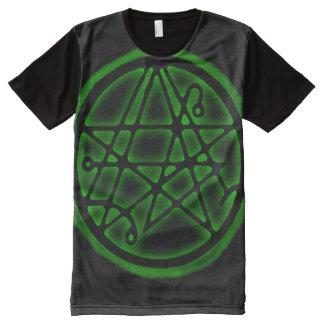 Necronomicon Cthulhu Black Earth Gate Sigil All-Over Print T-Shirt