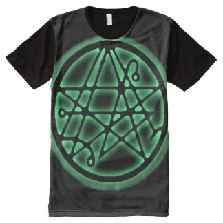 Necronomicon Cthulhu Death Gate Sigil All-Over Print T-Shirt