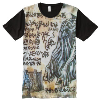 Necronomicon Cthulhu Demon Gate All-Over Print T-Shirt