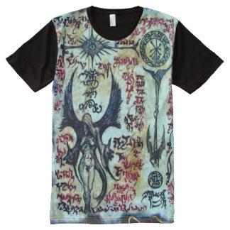 Necronomicon Demon Sorceress Magick Ritual All-Over Print T-Shirt