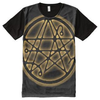 Necronomicon Gold Gateway Sigil All-Over Print T-Shirt