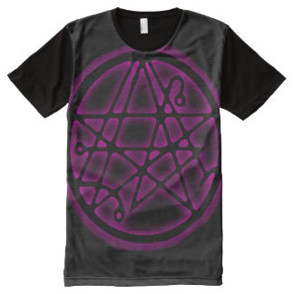 Necronomicon Marduk Magick Gate Sigil All-Over Print T-Shirt