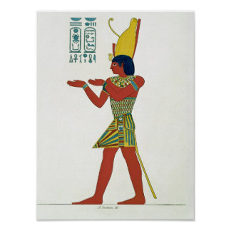 Nectanebo I wearing the double crown Poster