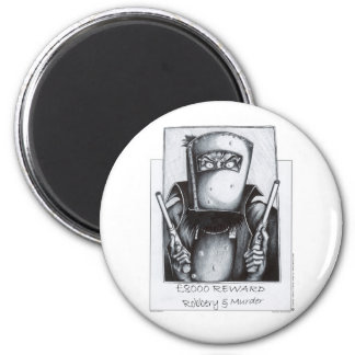 Ned Kelly: Wanted 6 Cm Round Magnet