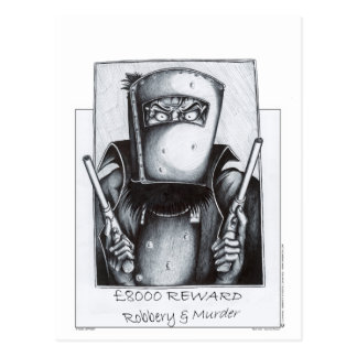 Ned Kelly (Wanted Poster) Postcard