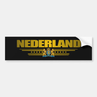 """Nederland Gold"" Bumper Sticker"