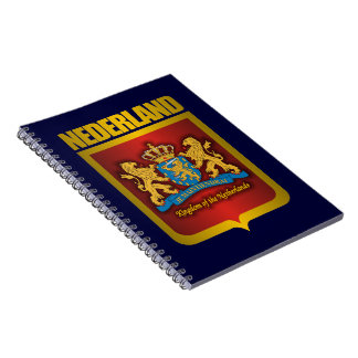 """Nederland Gold"" Spiral Notebook"