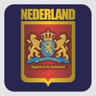 """Nederland Gold"" Square Sticker"