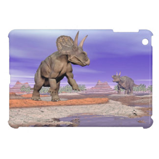 Nedoceratops/diceratops dinosaurs in nature iPad mini cases