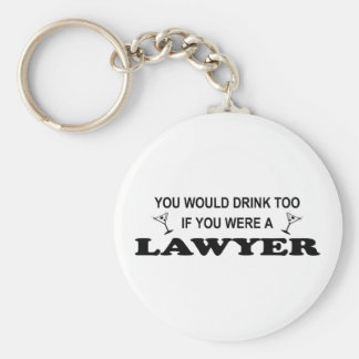 Need a Drink - Lawyer Basic Round Button Key Ring