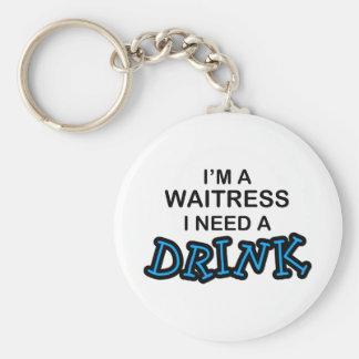 Need a Drink - Waitress Key Ring