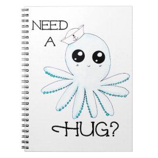 Need a Hug Kawaii Cute Sailor Octopus Notebooks