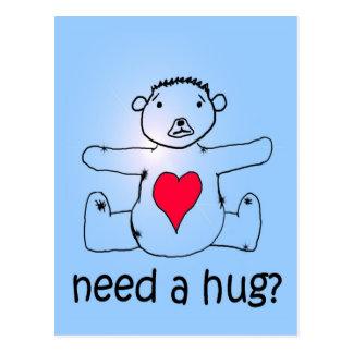 Need a hug? postcard