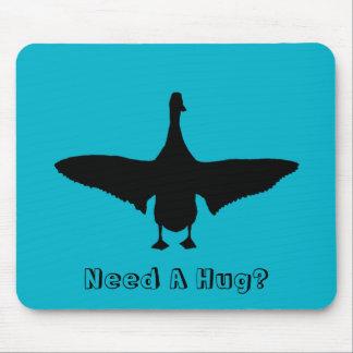 Need A Hug? Runner Duck Silhouette Mousepad