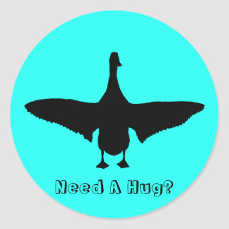 Need A Hug? Runner Duck Silhouette Sticker