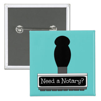 Need a Notary Rubber Stamp 15 Cm Square Badge