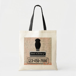 Need a Notary Rubber Stamp with Phone Number Tote Bag