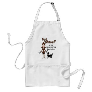 Need a Shave in Cocoa Brown for Pet Groomers Standard Apron