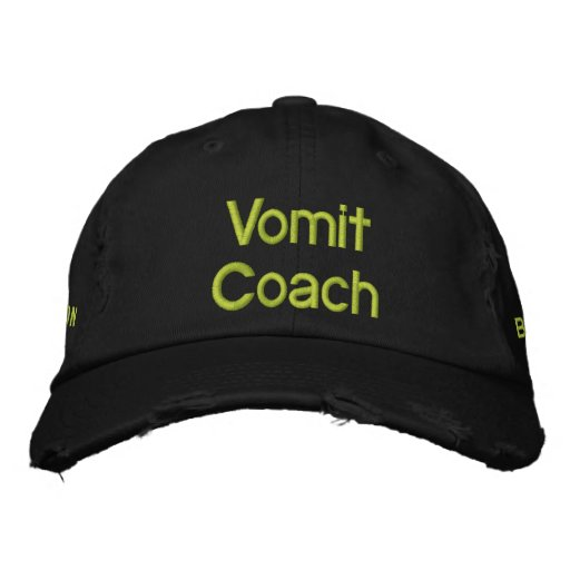 Need A Vomit Coach Embroidered Hat