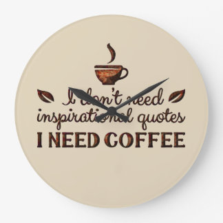 Need Coffee Clock