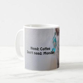 Need Coffee, Don't need Monday Coffee Mug