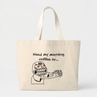 Need Coffee! Jumbo Tote Bag
