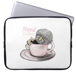 Need Coffee Laptop Sleeve