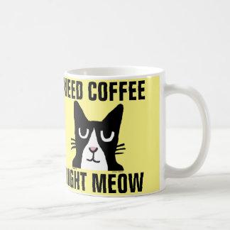 NEED COFFEE RIGHT MEOW, Panda Kitty coffee mugs