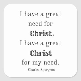 Need for Christ Square Sticker