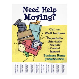 Need Help MOVING? Truck.Relocation.Hauling.Truck 21.5 Cm X 28 Cm Flyer