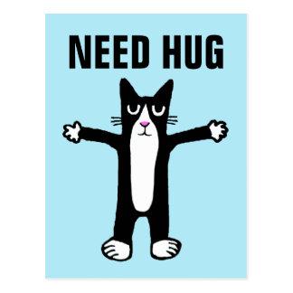 NEED HUG POSTCARD