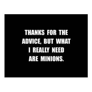 Need Minions Postcard