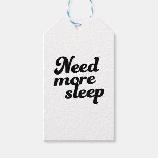 Need more sleep! gift tags