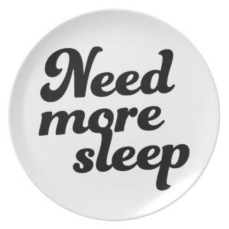 Need more sleep! plate