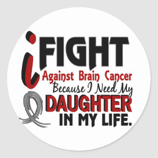 Need My Daughter Brain Cancer Round Sticker