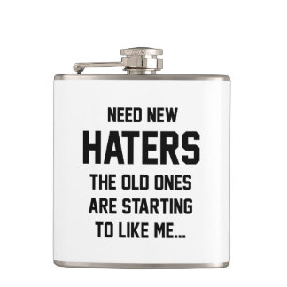 Need New Haters Hip Flask