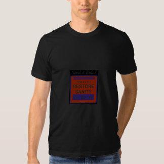 needarideblack t-shirts