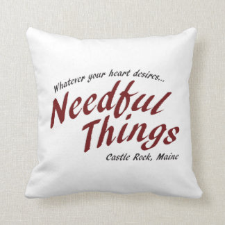 Needful Things Throw Pillow