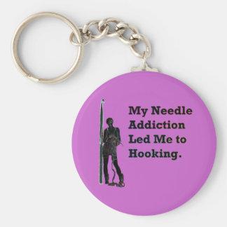 Needle Addiction Keychain