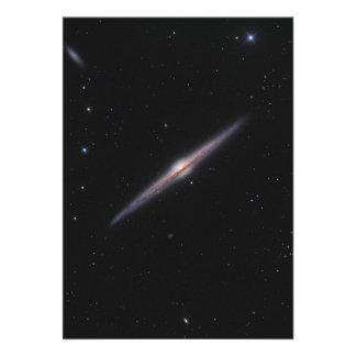 Needle Galaxy NGC 4565 edge-on spiral galaxy Card