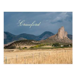 Needle Rock in Crawford, Colorado Postcard