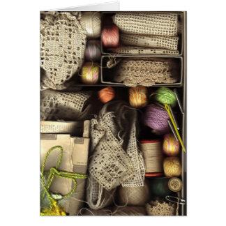 Needlework Box Card