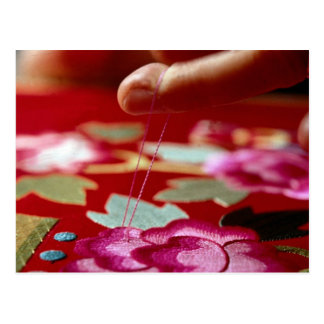 Needlework Postcard