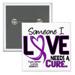NEEDS A CURE 2 LUPUS T-Shirts & Gifts 15 Cm Square Badge